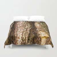 wood Duvet Covers featuring Wood by Michelle McConnell