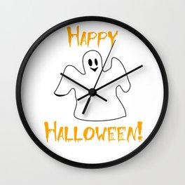 Happy Halloween Ghost Shirt Wall Clock