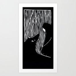 Il lupo  Art Print