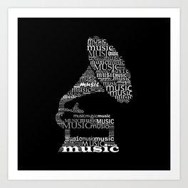 Invert gramophone Art Print