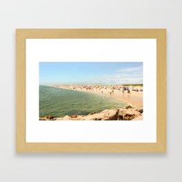 Tavira Beach Portugal Framed Art Print