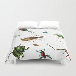 Bug Life - Beetles - Bugs - Insects - Colorful - Insect Pattern Duvet Cover