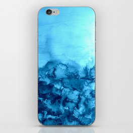 INTO ETERNITY, TURQUOISE Colorful Aqua Blue Watercolor Painting Abstract Art Floral Landscape Nature iPhone Skin