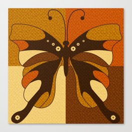 RETRO BUTTERFLY Canvas Print