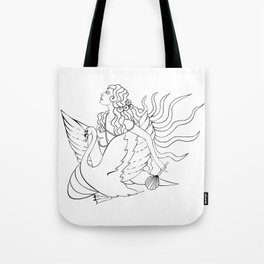 The Lady Aphrodite, The Golden Kypria. Tote Bag