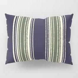 Navy blue and sage green stripes Pillow Sham