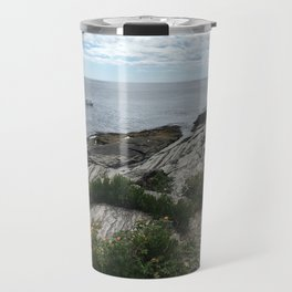 Water in Portland Maine Travel Mug