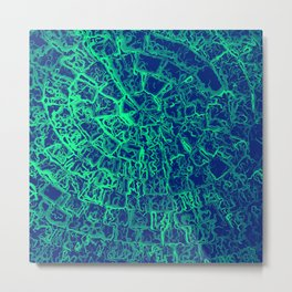 Mint Green Mosaic Metal Print