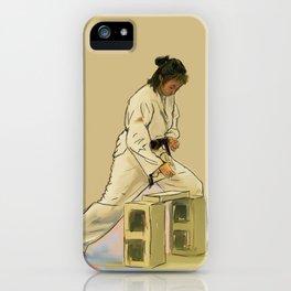 Preparing to Break a Brick iPhone Case