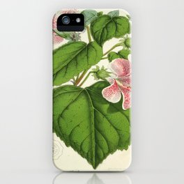 Vintage Botanical Floral Flower Plant Scientific iPhone Case