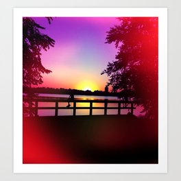 Warm Summer Nights at Dusk Art Print