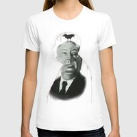 hitchcock T-shirts featuring Hitchcock by FlacoGarcia
