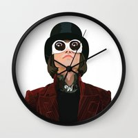 willy wonka Wall Clocks featuring Willy Wonka by Natalié Art&Living