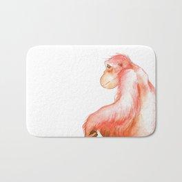Elka, Orangutan Watercolor Bath Mat