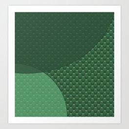 Green creative Art Print