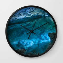 The underground lake Wall Clock