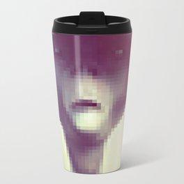 Pixel Alien Metal Travel Mug