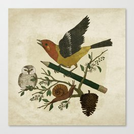 Design Reunion Series: Bird Canvas Print