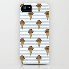 ice cream cones stripes food fight apparel and gifts iPhone Case