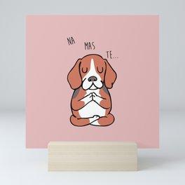 NAMASTE Beagle Mini Art Print