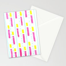 Pink and Lemon Stripes  Stationery Cards