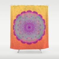 moonrise Shower Curtains featuring Moonrise by Peta Herbert