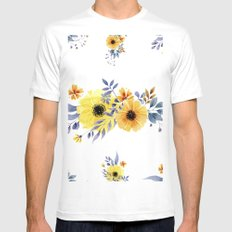 Pattern 01 MEDIUM Mens Fitted Tee White