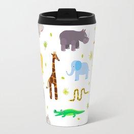 Wild african animals pattern Travel Mug