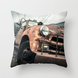 Rusty Road Throw Pillow
