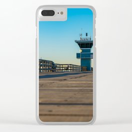 On Seal Beach Pier Clear iPhone Case