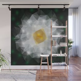Abstract polygonal flower Wall Mural