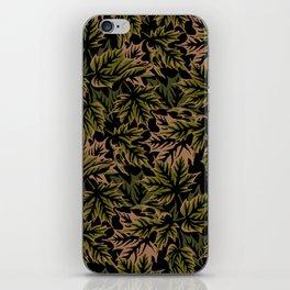 Leaves - dull green iPhone Skin