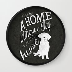 Home with Dog Wall Clock