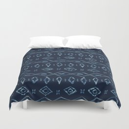 Indigo Tie Dye Batik Organic Blue Bandana Duvet Cover