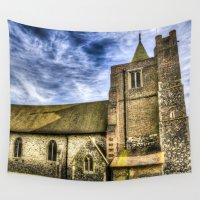 england Wall Tapestries featuring Orsett Church Essex England by David Pyatt