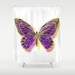 Stained Glass Butterfly Shower Curtain