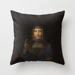 Salvator Mundi _tag Throw Pillow
