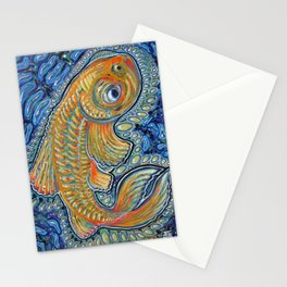 Lucky Fish Stationery Cards