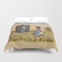 adventure Duvet Covers featuring Adventure in the Great Wide Somewhere by Karen Hallion Illustrations