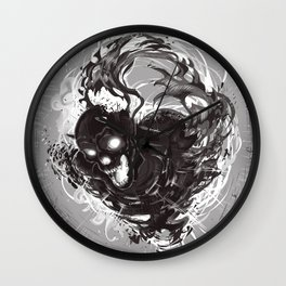 Dark Death Wall Clock