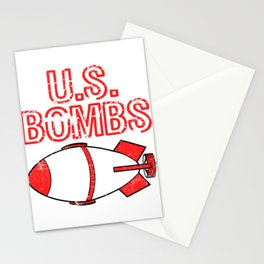 """A Bombing Tee For Bombers Saying """"U.S. Bombs"""" T-shirt Design United States Of America Explosives Stationery Cards"""