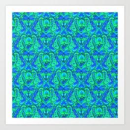 Moroccan Inspired Paisley Tile Art Print