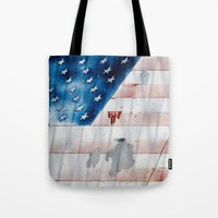 flag Tote Bags featuring flag by Juliya Lezhen