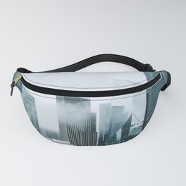 Rainy Downtown Seattle Skyscrapers Fanny Pack