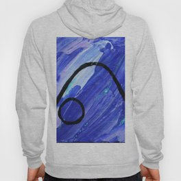 Down dog abstract Hoody