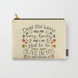 """Anne of Green Gables """"Dear Old World"""" Quote Carry-All Pouch"""