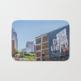 Cleveland Ohio City Skyline Dilly Dilly Sign Bath Mat