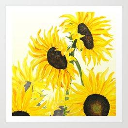 sunflower watercolor 2017 Art Print