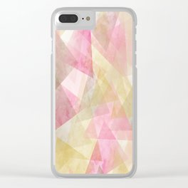 Abstract geometry pattern Clear iPhone Case