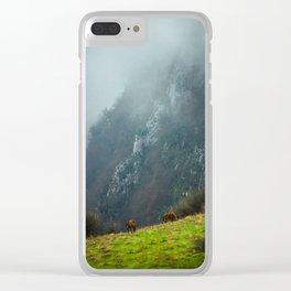 Mountains landscape Clear iPhone Case